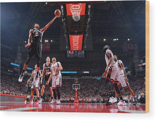 Playoffs Wood Print featuring the photograph Dejounte Murray by Jesse D. Garrabrant