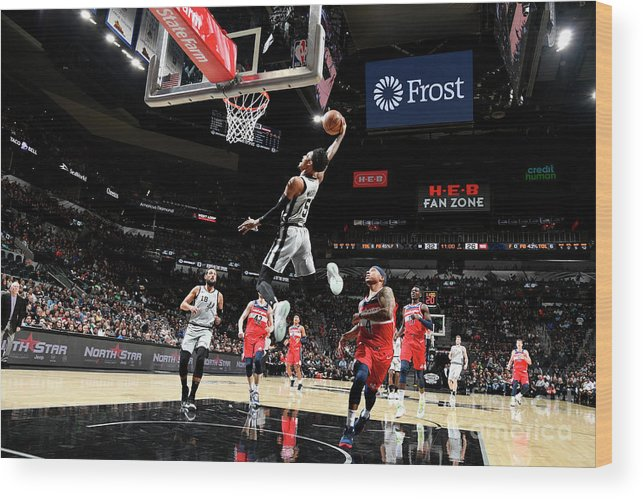 Nba Pro Basketball Wood Print featuring the photograph Dejounte Murray by Logan Riely