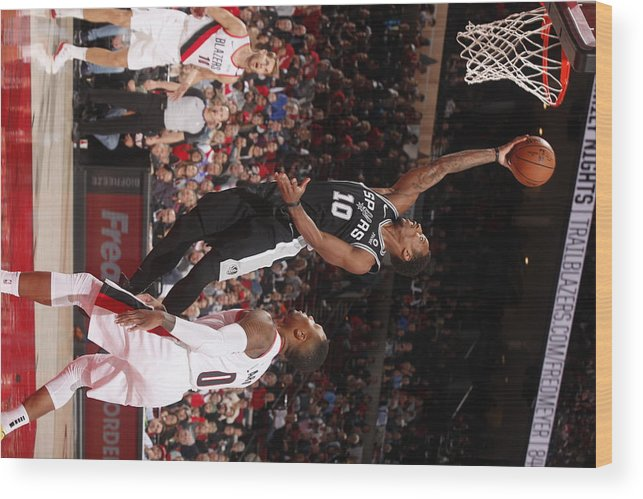 Nba Pro Basketball Wood Print featuring the photograph Demar Derozan by Cameron Browne