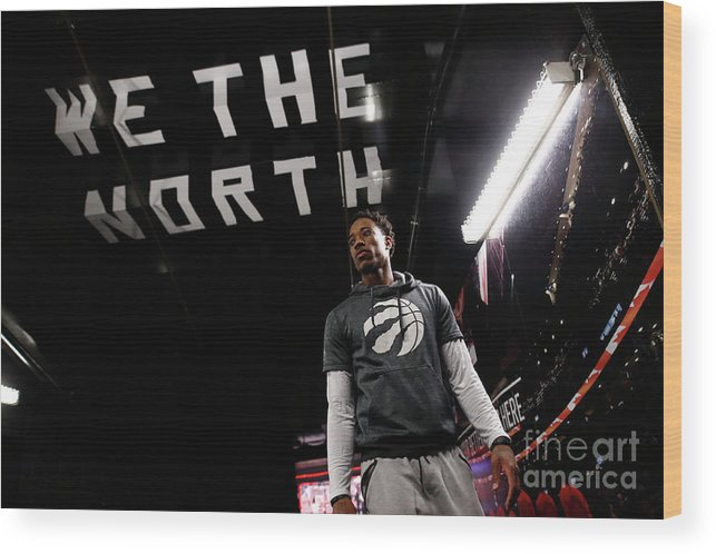 Playoffs Wood Print featuring the photograph Demar Derozan by Mark Blinch