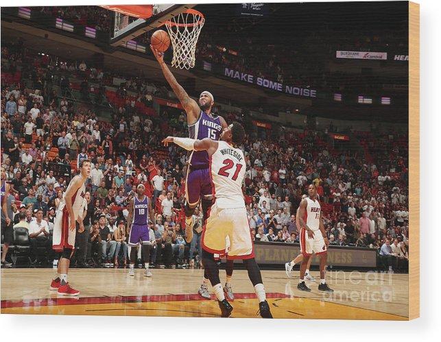Nba Pro Basketball Wood Print featuring the photograph Demarcus Cousins by Issac Baldizon