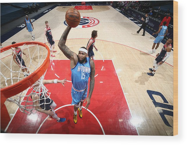 Nba Pro Basketball Wood Print featuring the photograph Demarcus Cousins by Ned Dishman