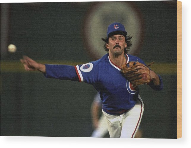 1980-1989 Wood Print featuring the photograph Dennis Eckersley by Ronald C. Modra/sports Imagery
