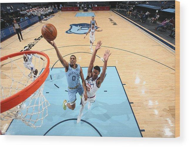 Nba Pro Basketball Wood Print featuring the photograph Denver Nuggets v Memphis Grizzlies by Joe Murphy