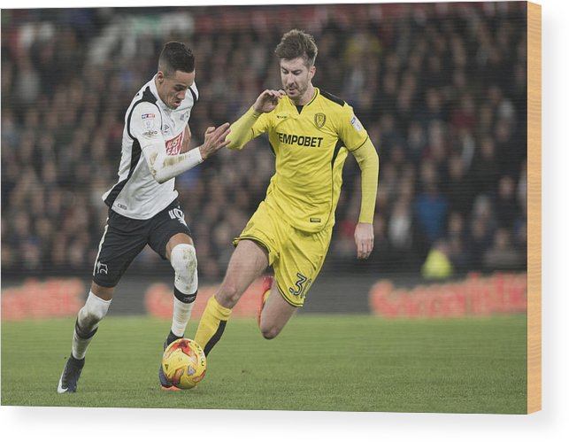 England Wood Print featuring the photograph Derby County v Burton Albion - Sky Bet Championship by Nathan Stirk
