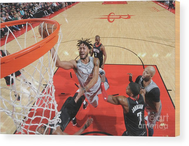 Playoffs Wood Print featuring the photograph Derrick Rose by Bill Baptist