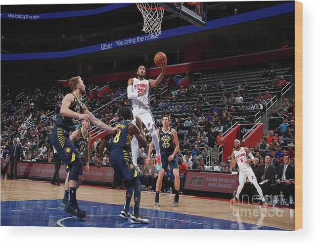 Nba Pro Basketball Wood Print featuring the photograph Derrick Rose by Brian Sevald