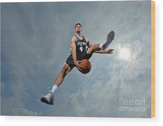 Nba Pro Basketball Wood Print featuring the photograph Derrick White by Jesse D. Garrabrant