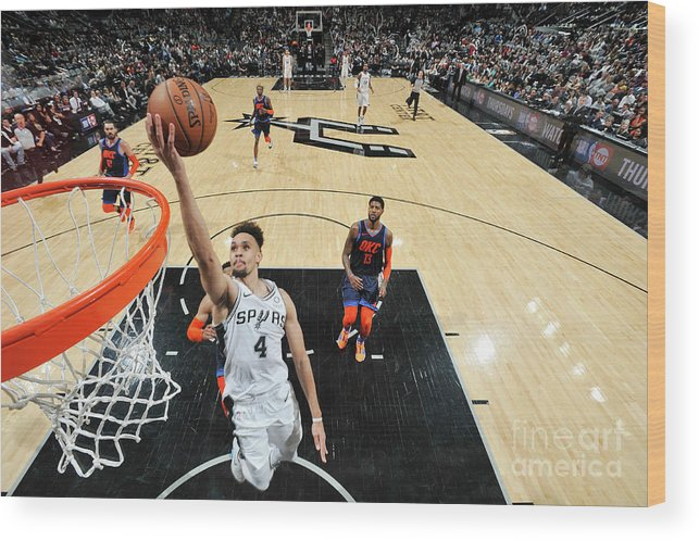 Nba Pro Basketball Wood Print featuring the photograph Derrick White by Mark Sobhani