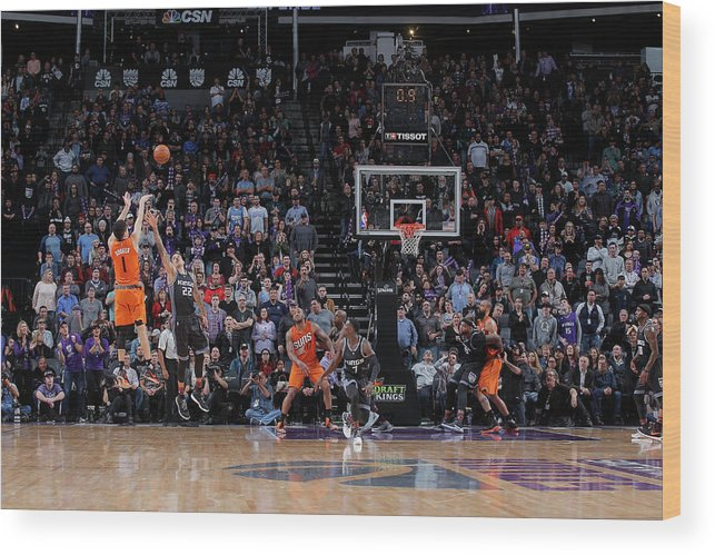 Nba Pro Basketball Wood Print featuring the photograph Devin Booker by Rocky Widner