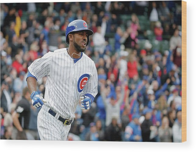Three Quarter Length Wood Print featuring the photograph Dexter Fowler by Jon Durr