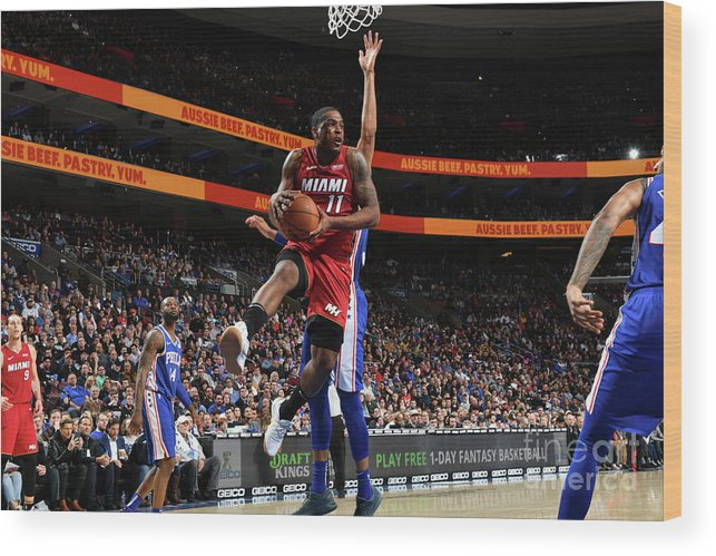 Nba Pro Basketball Wood Print featuring the photograph Dion Waiters by Jesse D. Garrabrant
