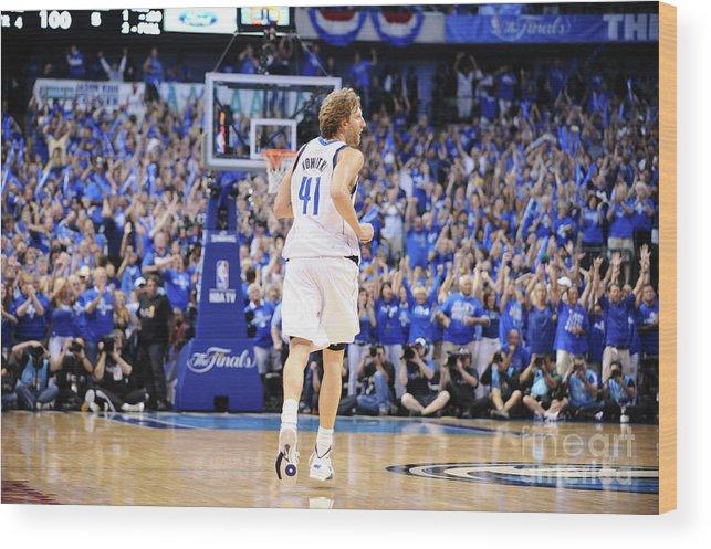 Playoffs Wood Print featuring the photograph Dirk Nowitzki by Garrett Ellwood