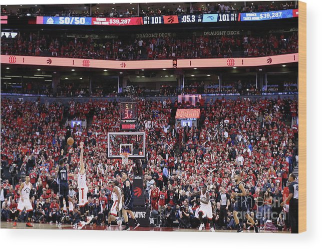 Playoffs Wood Print featuring the photograph D.j. Augustin by David Sherman