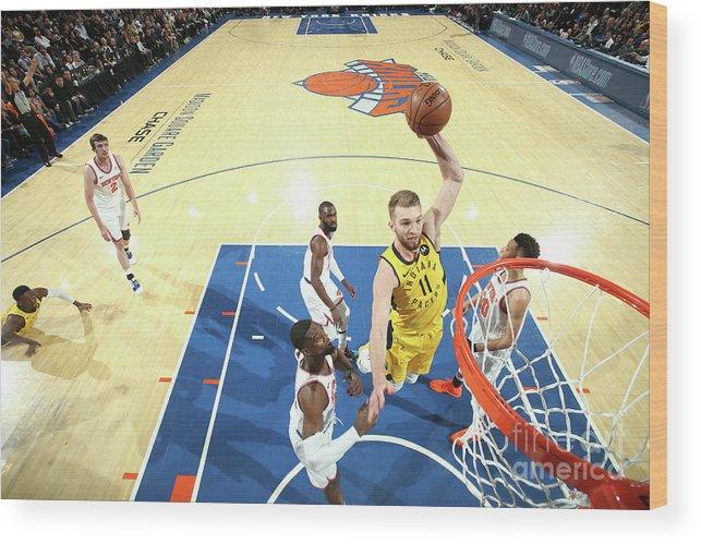 Nba Pro Basketball Wood Print featuring the photograph Domantas Sabonis by Nathaniel S. Butler