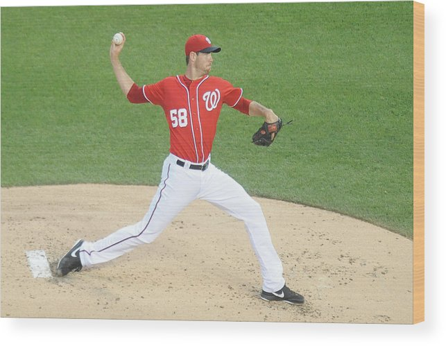 Second Inning Wood Print featuring the photograph Doug Fister by Mitchell Layton