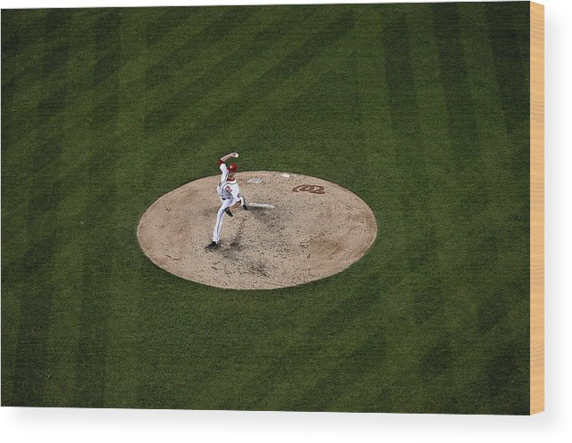 Working Wood Print featuring the photograph Doug Fister by Patrick Smith