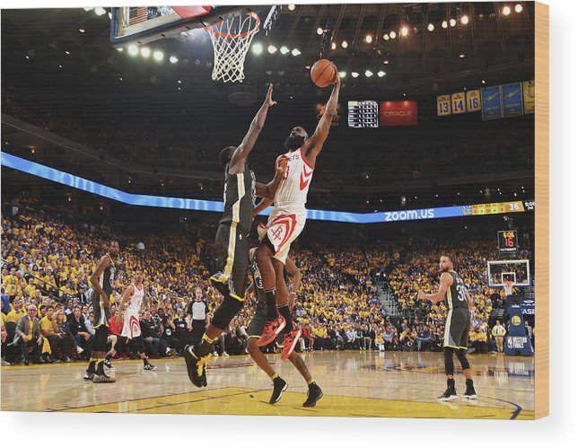 Playoffs Wood Print featuring the photograph Draymond Green and James Harden by Andrew D. Bernstein