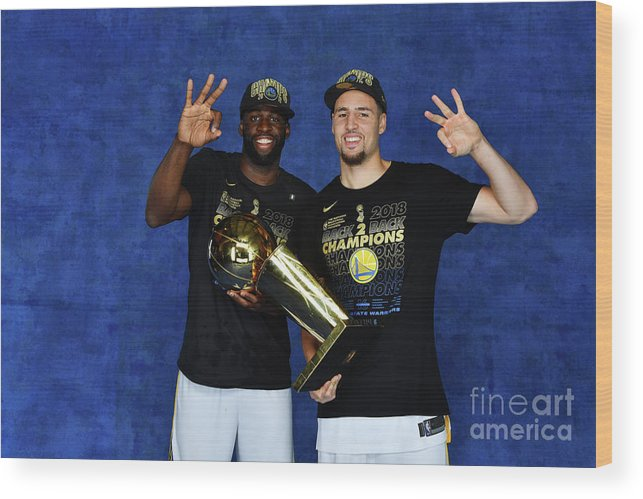 Playoffs Wood Print featuring the photograph Draymond Green and Klay Thompson by Jesse D. Garrabrant