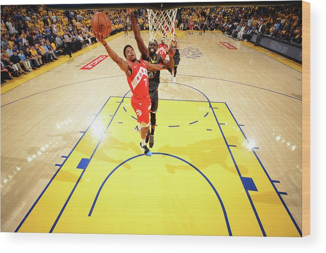 Playoffs Wood Print featuring the photograph Draymond Green and Kyle Lowry by Jesse D. Garrabrant