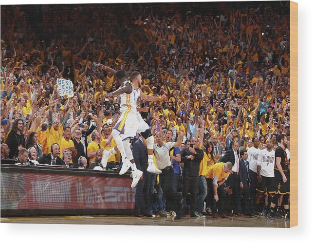 Playoffs Wood Print featuring the photograph Draymond Green and Stephen Curry by Nathaniel S. Butler
