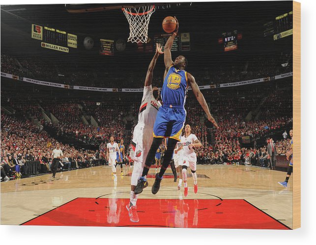 Playoffs Wood Print featuring the photograph Draymond Green by Cameron Browne
