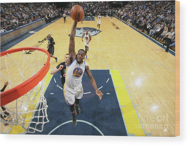 Nba Pro Basketball Wood Print featuring the photograph Draymond Green by Joe Murphy