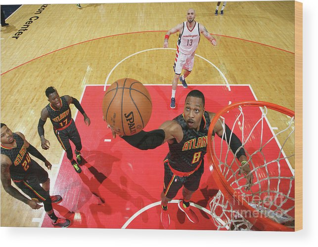 Playoffs Wood Print featuring the photograph Dwight Howard by Ned Dishman