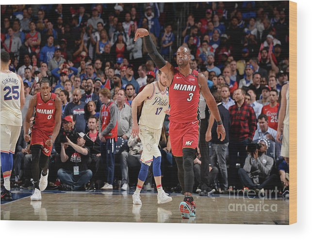 Playoffs Wood Print featuring the photograph Dwyane Wade by David Dow