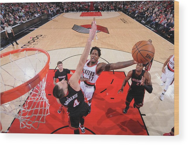 Nba Pro Basketball Wood Print featuring the photograph Ed Davis by Sam Forencich