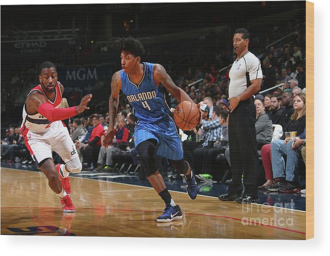 Nba Pro Basketball Wood Print featuring the photograph Elfrid Payton by Ned Dishman