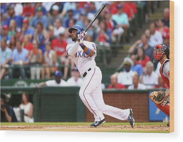 People Wood Print featuring the photograph Elvis Andrus by Ronald Martinez