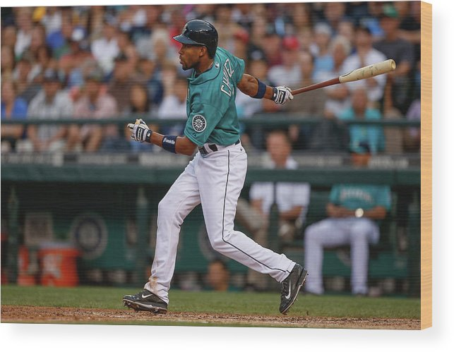 American League Baseball Wood Print featuring the photograph Endy Chavez by Otto Greule Jr