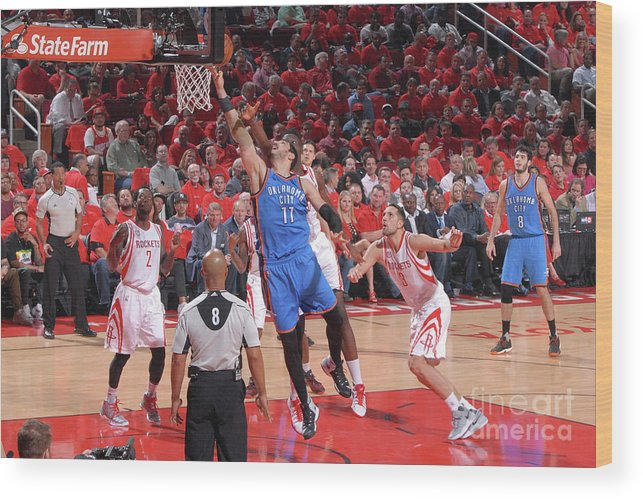 Playoffs Wood Print featuring the photograph Enes Kanter by Bill Baptist