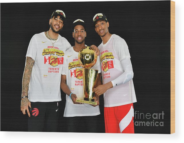 Playoffs Wood Print featuring the photograph Eric Moreland and Malcolm Miller by Jesse D. Garrabrant