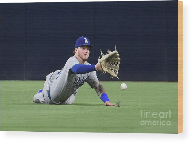 Game Two Wood Print featuring the photograph Erick Aybar and Alex Verdugo by Denis Poroy