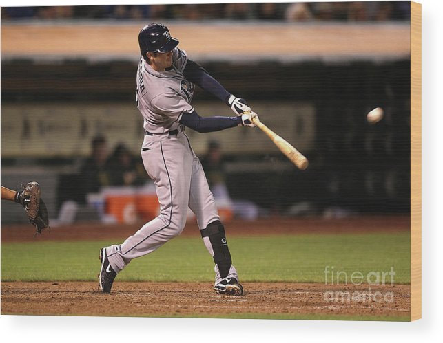 People Wood Print featuring the photograph Evan Longoria by Jed Jacobsohn
