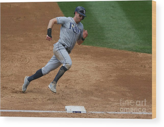 People Wood Print featuring the photograph Evan Longoria by Justin Edmonds