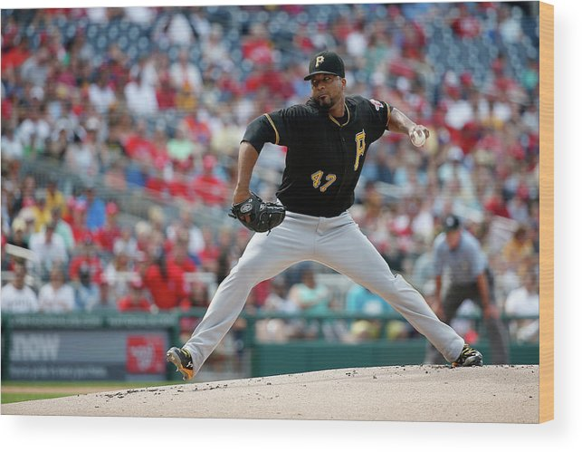 People Wood Print featuring the photograph Francisco Liriano by Rob Carr