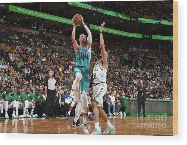 Nba Pro Basketball Wood Print featuring the photograph Frank Kaminsky by Brian Babineau