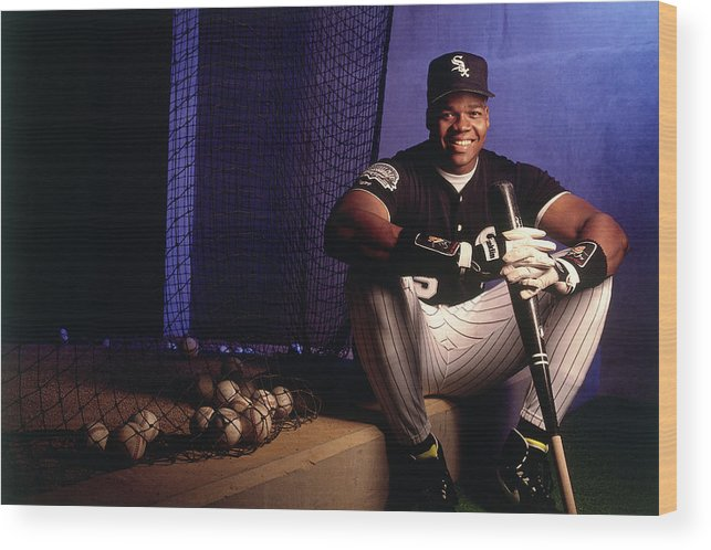 American League Baseball Wood Print featuring the photograph Frank White by Ronald C. Modra/sports Imagery