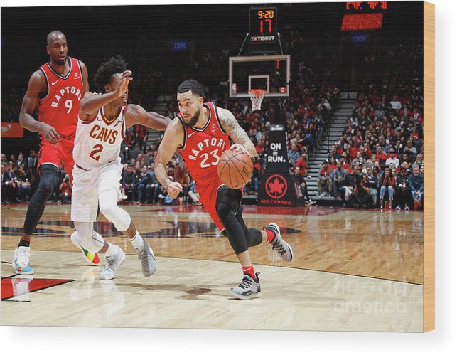 Nba Pro Basketball Wood Print featuring the photograph Fred Vanvleet by Mark Blinch