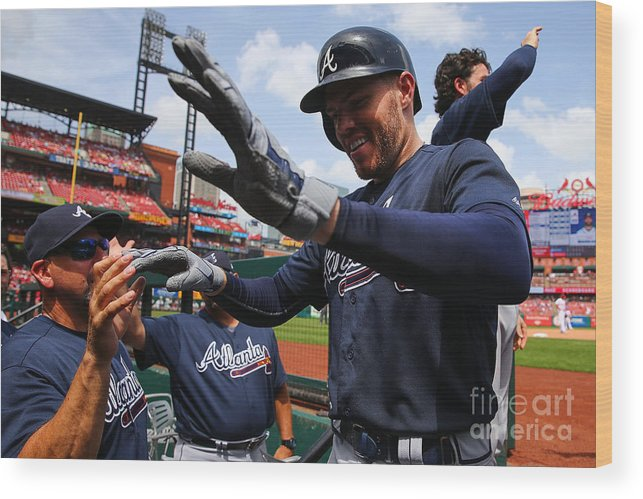 People Wood Print featuring the photograph Freddie Freeman by Dilip Vishwanat