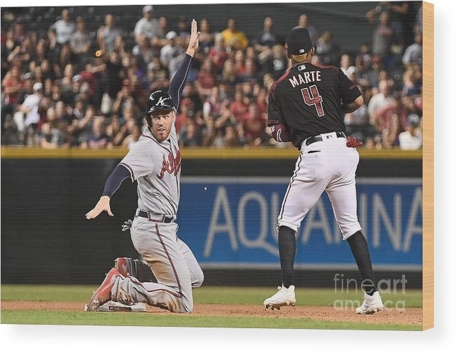 People Wood Print featuring the photograph Freddie Freeman by Jennifer Stewart