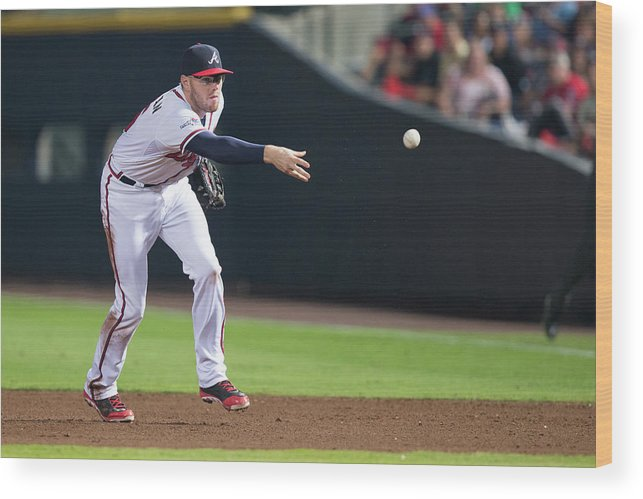 Atlanta Wood Print featuring the photograph Freddie Freeman by Mike Zarrilli