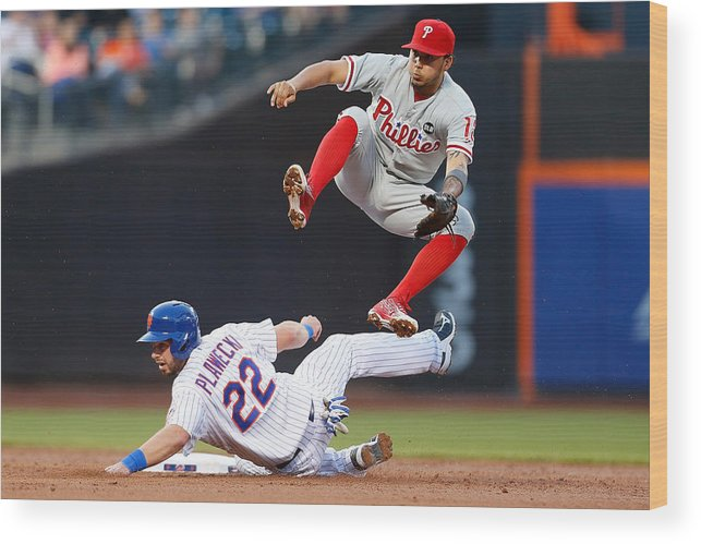 Double Play Wood Print featuring the photograph Freddy Galvis by Mike Stobe