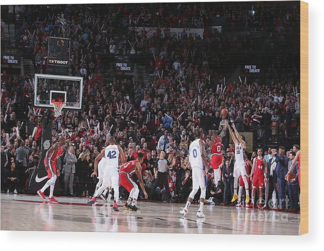 Nba Pro Basketball Wood Print featuring the photograph Furkan Korkmaz by Sam Forencich