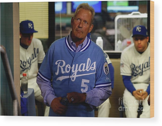 People Wood Print featuring the photograph George Brett by Ed Zurga