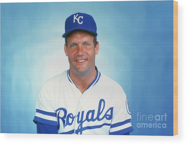 1980-1989 Wood Print featuring the photograph George Brett by Mlb Photos
