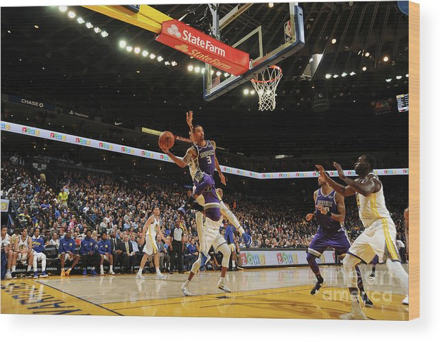 Nba Pro Basketball Wood Print featuring the photograph George Hill by Noah Graham